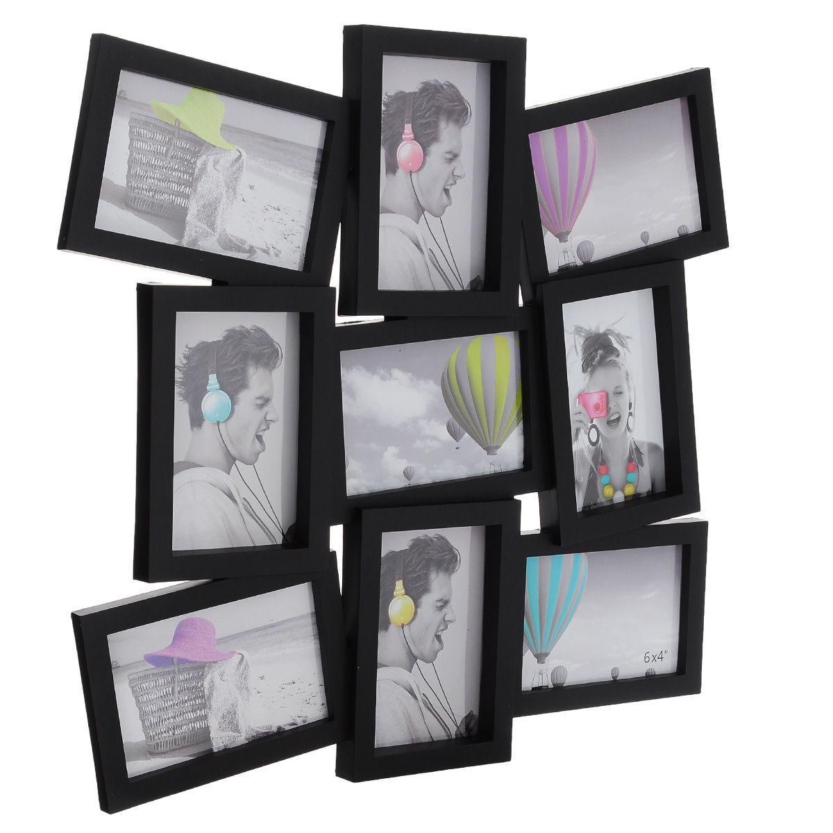 """Фоторамка """"Image Art"""" отлично дополнит интерьер помещения и поможет сохранить на память ваши любимые фотографии. Фоторамка выполнена из пластика черного цвета """"под дерево"""" и представляет собой коллаж из 9 прямоугольных рамочек с вертикальным и горизонтальным расположением фотографий. Изделие подвешивается к стене. Такая рамка позволит сохранить на память изображения дорогих вам людей и интересных событий вашей жизни, а также станет приятным подарком для каждого."""