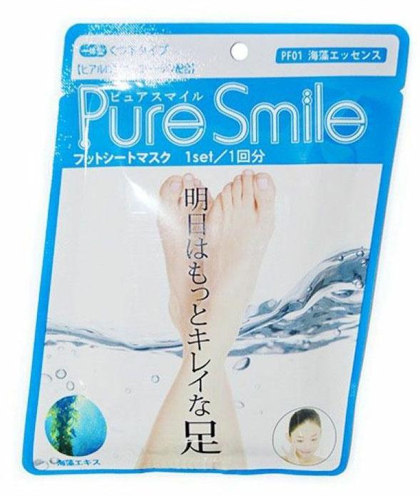 Pure Smile Питательная маска для ступней с эссенцией морских водорослей 18г.005223Питательная маска для ступней с эссенцией морских водорослей PURE SMILE - это необходимый уход за достаточно проблемным участком кожи.Компоненты маски окажут интенсивное питание и увлажнение, осветлят и разгладят кожу ступней. Коллаген и гиалуроновая кислота, окажут мощное увлажняющее действие, вернут кожу плотность и упругость. Эссенция морских водорослей стимулирует клеточный обмен, нормализует секрецию жировых желез, тонизирует кожу, улучшает ее эластичность и способствует омоложению, препятствует огрубению кожи. Кипарисовая вода, препятствует появлению неприятных запахов, обладает дезодорирующим эффектом.