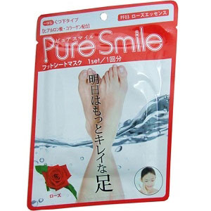 Pure Smile Питательная маска для ступней с эссенцией розы 18г.005216Имеет вид носков, содержит гиалуроновую кислоту и коллаген. Для того чтобы ноги выглядели лучше на следующий день.Для одноразового применения.Значительное содержание косметической эссенции делает кожу свежей, упругой и обильно увлажнённой! Содержит экстракт цветов розы столистной – для защиты и восстановления влаги и жиров в коже.Содержит мочевину – для смягчения и улучшения состояния кожи.Содержит кипарисовую воду – для улучшения состояния кожи и поддержания её здорового вида.Содержит салициловую кислоту – для улучшения состояния кожи и поддержания её здорового вида.