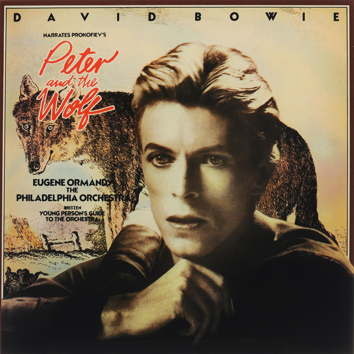 Дэвид Боуи,The Philadelphia Orchestra,Юджин Орманди David Bowie. Peter And The Wolf (LP) сайдинг vinyl on j профиль 3660 мм кремовый