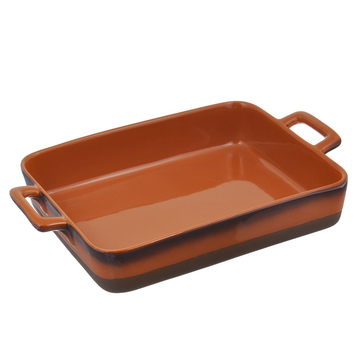 """Форма для запекания """"Enns"""", выполненная из керамики, станет незаменимым помощником у вас на кухне.Основные преимущества керамической формы для запекания """"Enns"""":   Подходит для использования в микроволновой, конвекционной печи и духовке; Подходит для хранения продуктов в холодильнике и морозильной камере; Устойчива к температурам от -30°С до +220°С; Можно мыть в посудомоечной машине; Идеально подходит для сервировки стола. Керамическая посуда пользуется огромной популярностью во всем мире, и не случайно. Всем известны достоинства этой необыкновенно красивой и практичной посуды. Ведь только керамическая посуда способна обеспечить равномерный нагрев и долгое сохранение температуры. Именно эти качества позволяют придать особый аромат продуктам, сохранить витамины и микроэлементы, которые часто разрушаются при нагревании. Кроме этого, керамическая посуда, не выделяет химических примесей в процессе приготовления пищи, что, безусловно, положительно скажется на вашем здоровье и самочувствии. Размер формы (без учета ручек): 32 см х 24 см х 6,5 см. Внутренний размер формы (без учета ручек): 31 см х 23,5 см х 6 см. Длина формы (с учетом ручек): 39 см."""