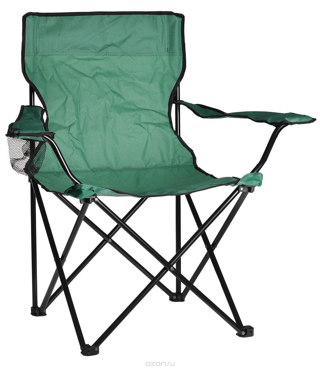 Кресло складное Reking, цвет: зеленыйC-015Комфортное складное кресло Reking с широким сиденьем, а также мягкой спинкой и подлокотниками, станет незаменимым предметом в походе, на природе, на рыбалке, а также на даче. На подлокотнике имеется отделение для бутылки или стакана. Кресло имеет прочный металлический каркас и покрытие из полиэстера, оно легко собирается и разбирается и не занимает много места, поэтому подходит для транспортировки и хранения дома.Максимальная нагрузка на кресло: 100 кг.