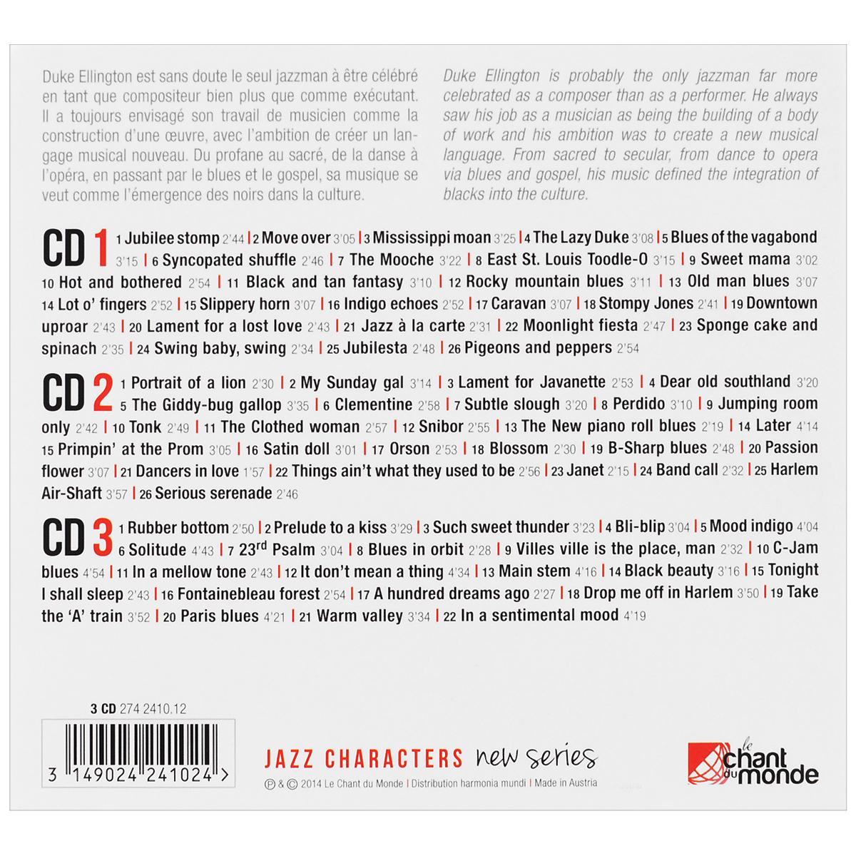Duke Ellington.  Portrait Of A Lion (3 CD) Warner Music,Le Chant Du Monde