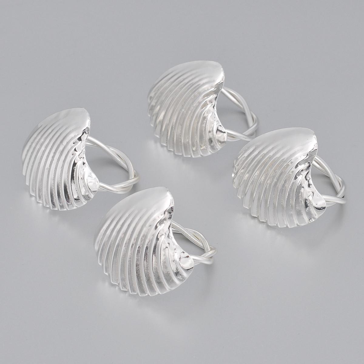 Набор колец для салфеток Marquis Ракушки, 4 шт кольца для салфеток marquis 3042 mr
