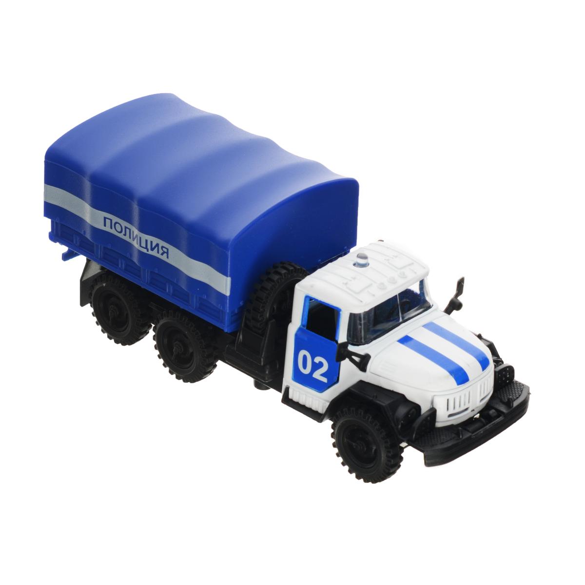 ТехноПарк Машинка инерционная ЗИЛ 131 Полиция игрушка технопарк зил 130 бензовоз x600 h09131 r