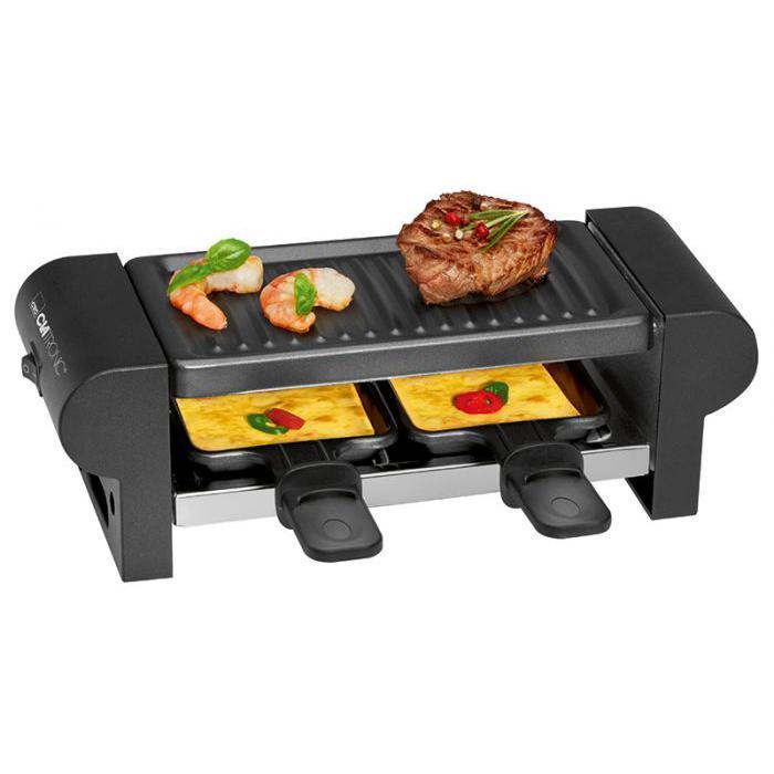 Clatronic RG 3592, Black раклетницаRG 3592 чернГриль Clatronic RG 3592 - универсальный многофункциональный электрический прибор, предназначенный для одновременного приготовления (гриля и запекания) мяса и яиц, рыбы и креветок, овощей и раклеттов, фруктов и других продуктовСреди плюсов гриля Clatronic RG 3592 следует отметить простоту в пользовании, легкость в очистке и доступную стоимость