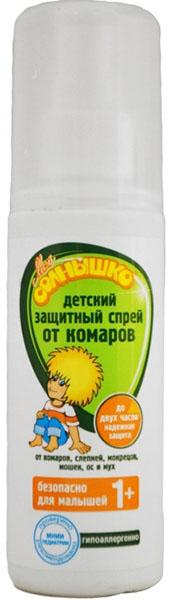 Мое солнышко Спрей детский от комаров, защитный, 100 мл средства от насекомых mosquitall спрей детский нежная защита от комаров 100 мл