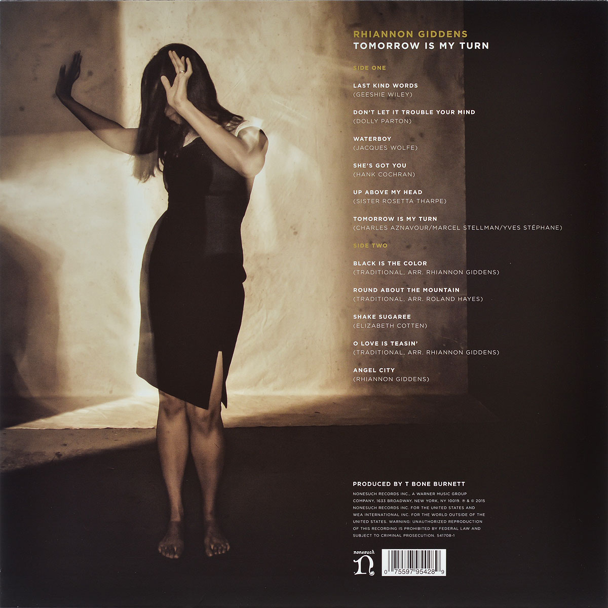 Rhiannon Giddens.  Tomorrow Is My Turn (LP + CD) Warner Music,Nonesuch Records