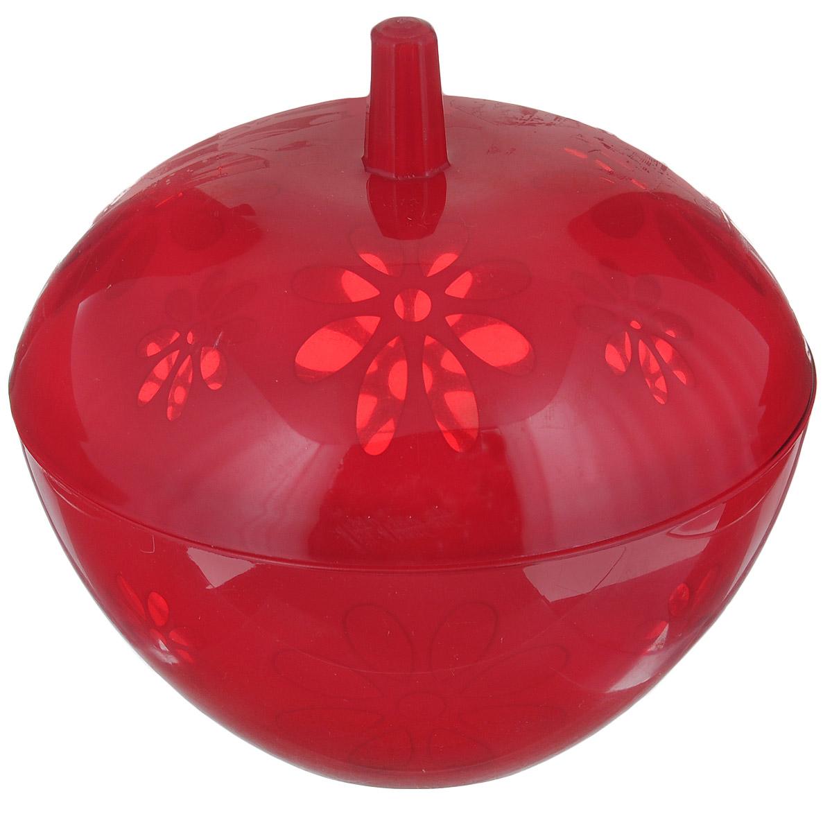 Сахарница Альтернатива Соблазн, с крышкой, цвет: красный, 600 млМ2308Великолепная сахарница Альтернатива Соблазн, выполненная из высококачественного пластика, оформлена рельефным теснением в виде цветочков. К сахарнице прилагается крышка. Эксклюзивный дизайн и функциональность сахарницы сделает ее незаменимой на любой кухне.Объем сахарницы: 600 мл.Общий диаметр сахарницы: 14 см.Диаметр основания: 6,5 см.Высота сахарницы (без учета крышки): 6,5 см.Высота сахарницы (с учетом крышки): 13 см.