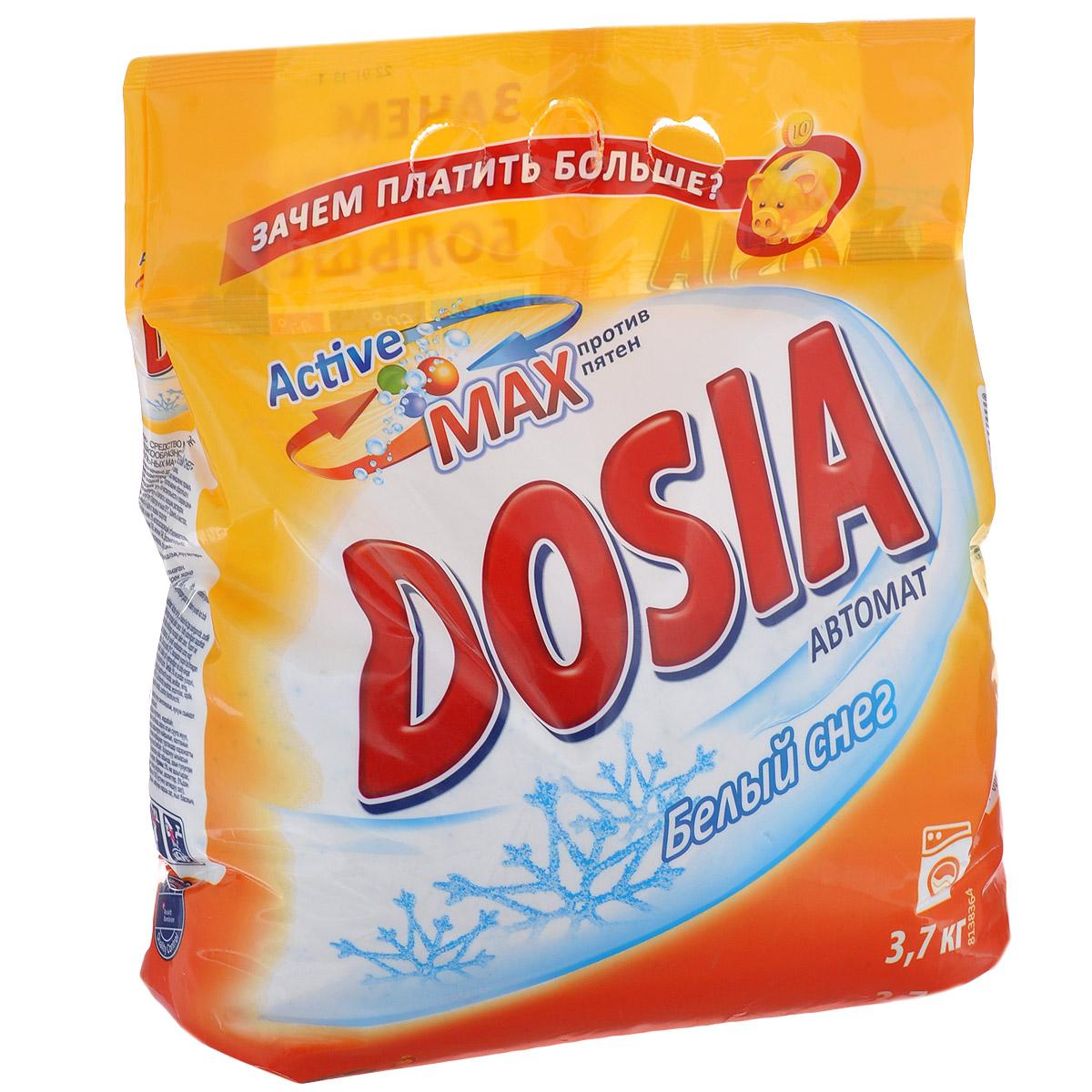 Стиральный порошок Dosia Active Max. Белый снег, 3,7 кг325332Стиральный порошок Dosia Active Max. Белый снег - синтетическое моющее порошкообразное средство для автоматических стиральных машин. Порошок отлично справляется с различными пятнами и придает белью неповторимую свежесть. Не предназначен для стирки изделий из шерсти и шелка. Благодаря специально разработанной формуле Active Max, порошок: - качественно удаляет даже самые сложные пятна, - отстирывает бережно и эффективно, не повреждая волокна ткани, - придает белью свежесть. Состав: 5% и более, но не менее 15% цеолиты и анионные ПАВ; менее 5% неоиногенные ПАВ; энзимы, оптический отбеливатель, отдушка. Товар сертифицирован.