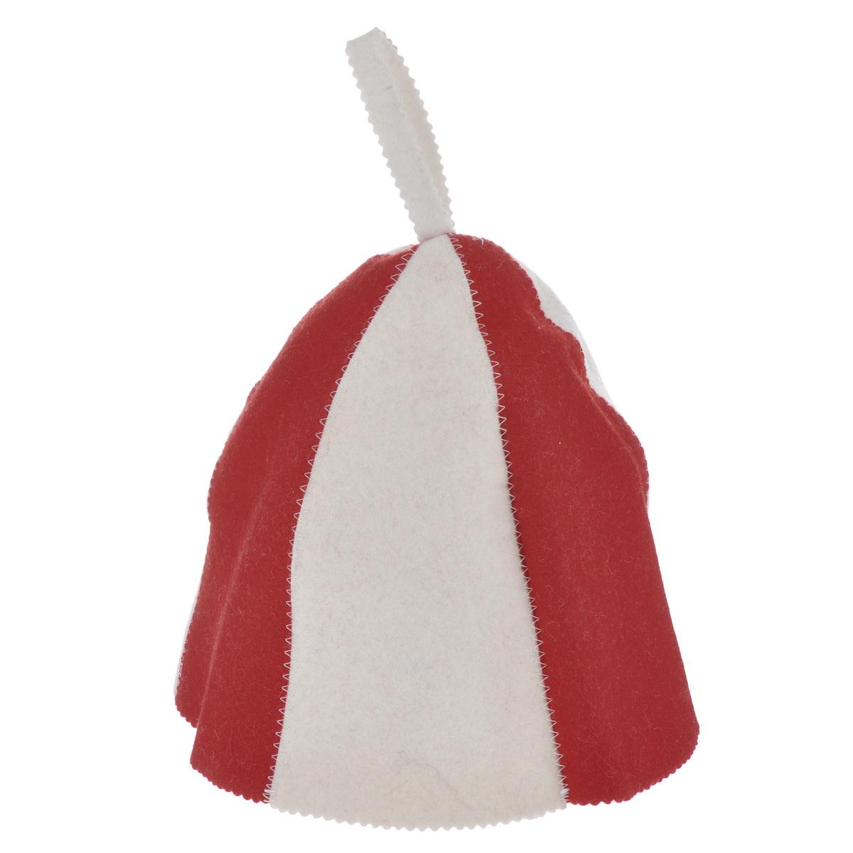 """Шапка для бани и сауны Банные штучки """"Разноцветная"""", цвет: белый, красный"""