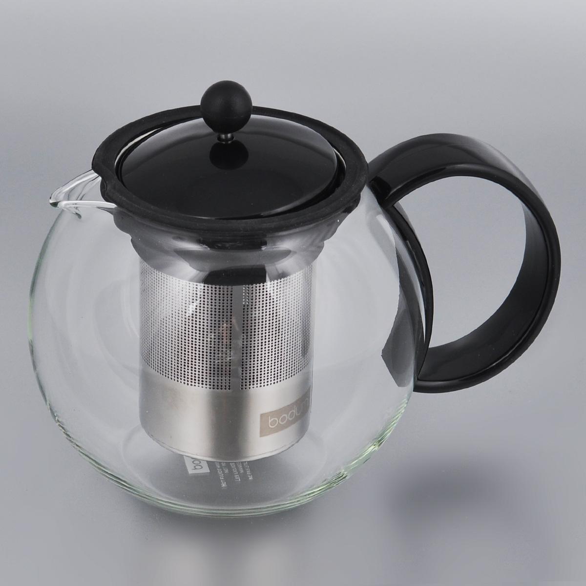 Френч-пресс Bodum Assam, 1 л. 1805-011805-01Заварочный чайник Bodum Assam выполнен из термостойкого стекла. Чайник оснащен фильтром-сеткой и прессом, выполненными из нержавеющей стали и пластика. Засыпая чайную заварку в фильтр-сетку и заливая ее горячей водой, вы получаете ароматный чай с оптимальной крепостью и насыщенностью. Остановить процесс заварки чая легко. Для этого нужно просто опустить поршень, и заварка уйдет вниз, оставляя вверху напиток, готовый к употреблению. Чайник снабжен крышкой и удобной ручкой. Заварочный чайник Bodum Assam займет достойное место на вашей кухне и позволит вам заварить свежий, ароматный чай.Можно мыть в посудомоечной машине. Диаметр чайника (по верхнему краю): 9 см.Высота чайника (без учета крышки): 12,5 см.