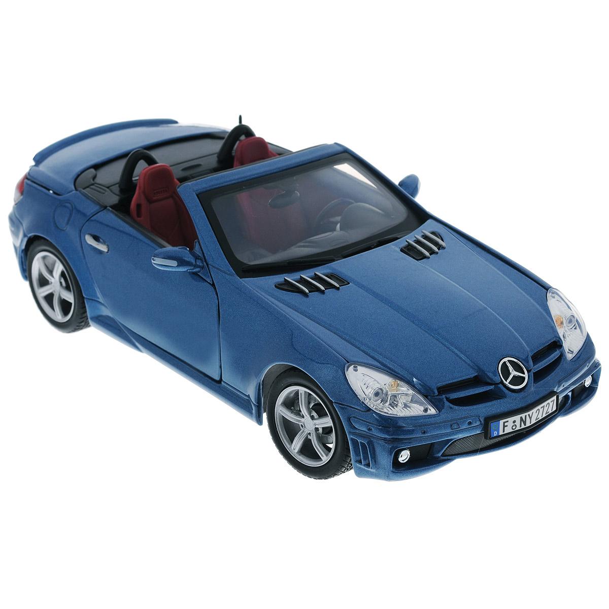 Autotime Коллекционная модель Mercedes Benz SLK55 АMG, цвет: синий металлик. Масштаб 1/18 autotime модель автомобиля uaz 39625 дорожные работы