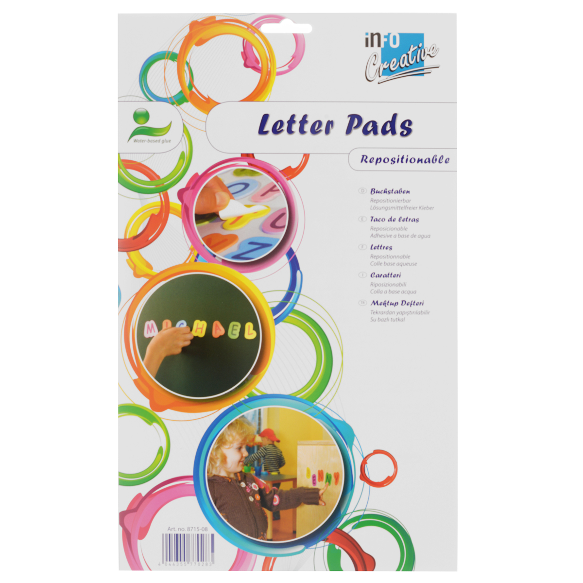 Набор самоклеящихся букв Creative Letter Pads docket gold perforated pads legal rule letter white 12 50 sheets p