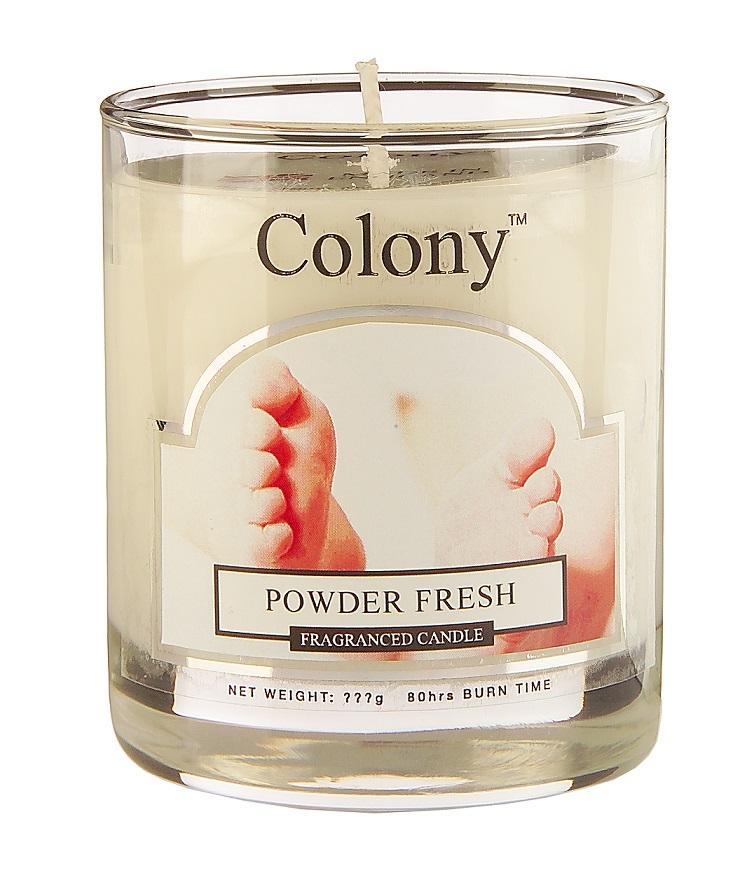 Wax Lyrical Свежая пудра ароматизированная свеча в стекле малая, 35 часовCH0601Сладкий аромат детской присыпки с постепенно раскрывающимися цветочными тонами (фиалка, роза, жасмин и мимоза)