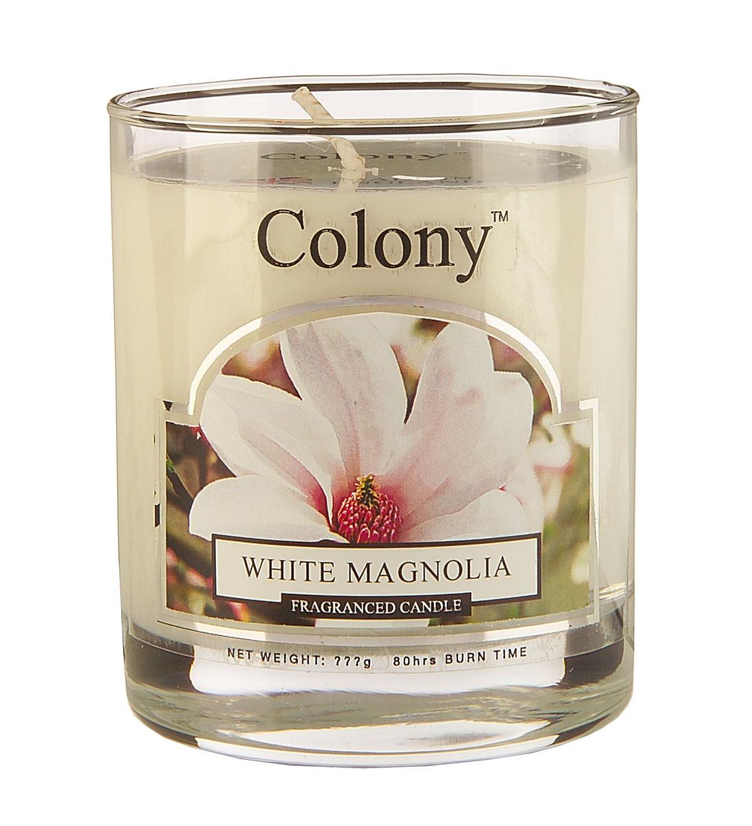 Wax Lyrical Белая магнолия ароматизированная свеча в стекле малая, 35 часовCH0604Аромат весенне-летнего букетаиз белых магнолий, роз, гардений, фрезий и сирени в сочетаниис нотками спелых персиков,на основе сандала и мускуса