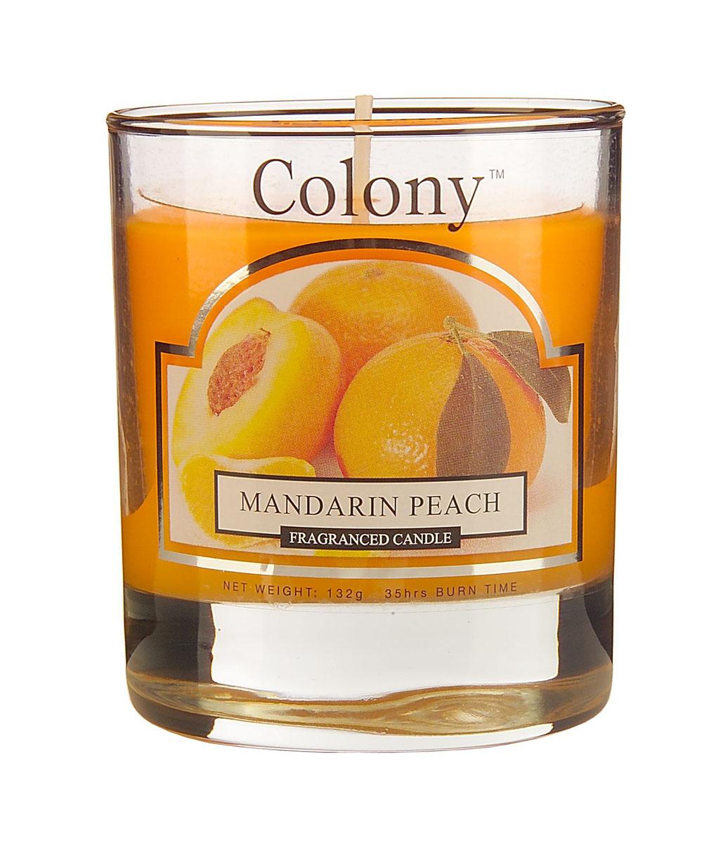 Wax Lyrical Мандарин и персик ароматизированная свеча в стекле малая, 35 часов wax depilatory