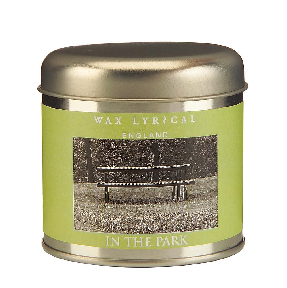 Wax Lyrical Прогулка в парке ароматическая свеча в алюминии, 35 часовWLT8703Нежный и спокойный аромат полевых цветов и молодой зелени