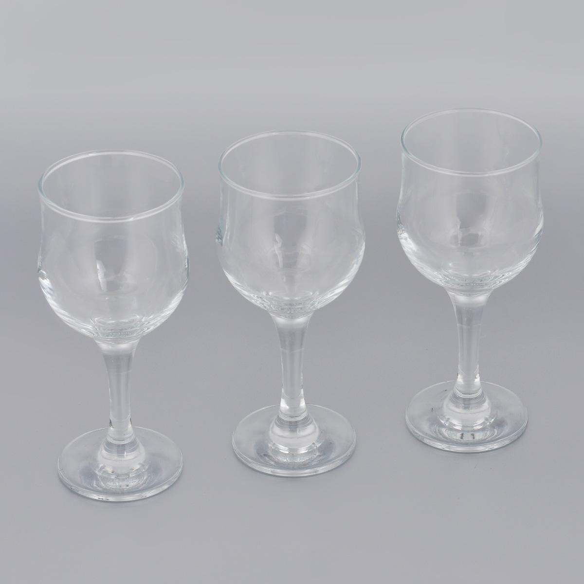 Набор бокалов для красного вина Pasabahce Tulipe, 240 мл, 3 шт mateo набор бокалов для красного вина sera