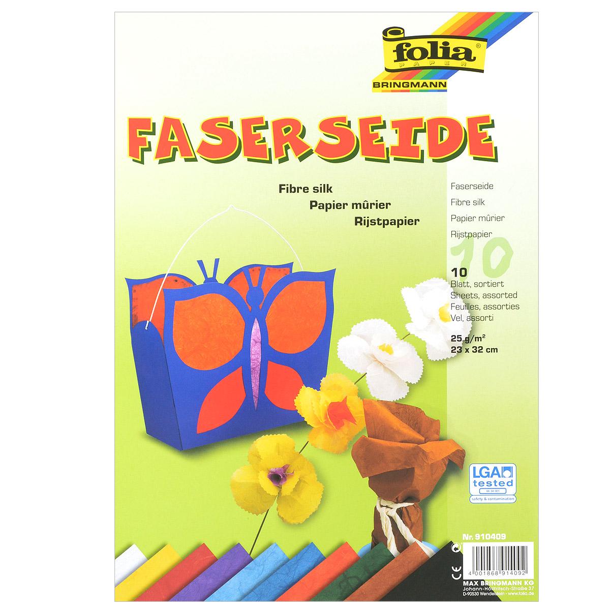 Бумага шелковая Folia, 23 см х 32 см, 10 листов бумага папиросная folia 50 см х 70 см 10 листов 7708130