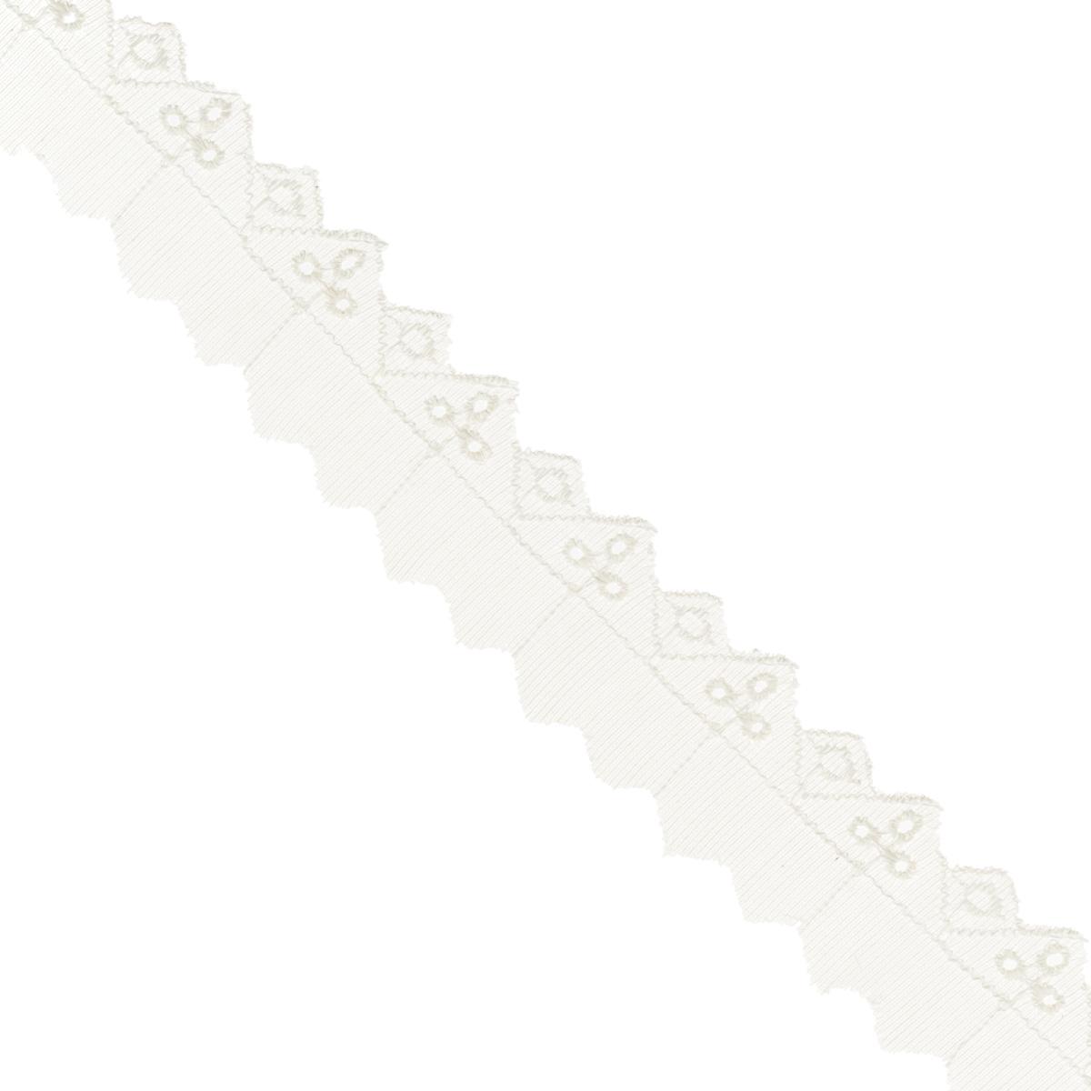 Тесьма отделочная Астра, цвет: слоновая кость, ширина 3 см, длина 9 м. 77043777704377Отделочная тесьма Астра, изготовленная из хлопка, предназначена для декорирования. Такая тесьма может создает эффект ручной работы на предмете одежды, что придаст ей неповторимость, сэкономив при этом ваше время на создание изделия. Также она идеально подойдет для оформления различных творческих работ таких, как скрапбукинг, аппликация, декор коробок и открыток и многое другое. Тесьма наивысшего качества практична в использовании. Она станет незаменимым элементом в создании рукотворного шедевра.Ширина: 3 см.Длина: 9 м.
