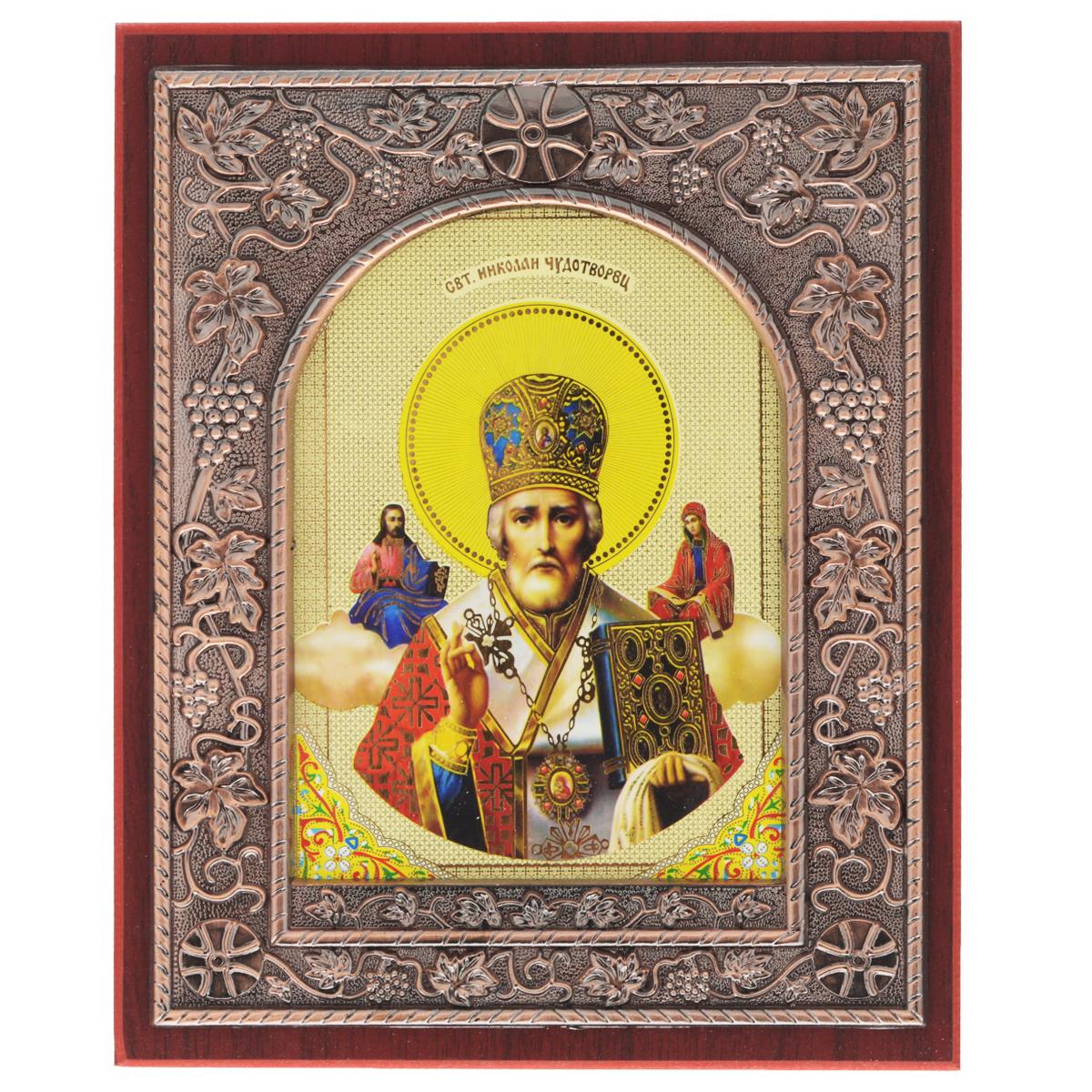 Икона в рамке Sima-land Святой Николай Чудотворец, 19 х 24 см икона галерея благолепия икона святой николай чудотворец 3 юзл 09