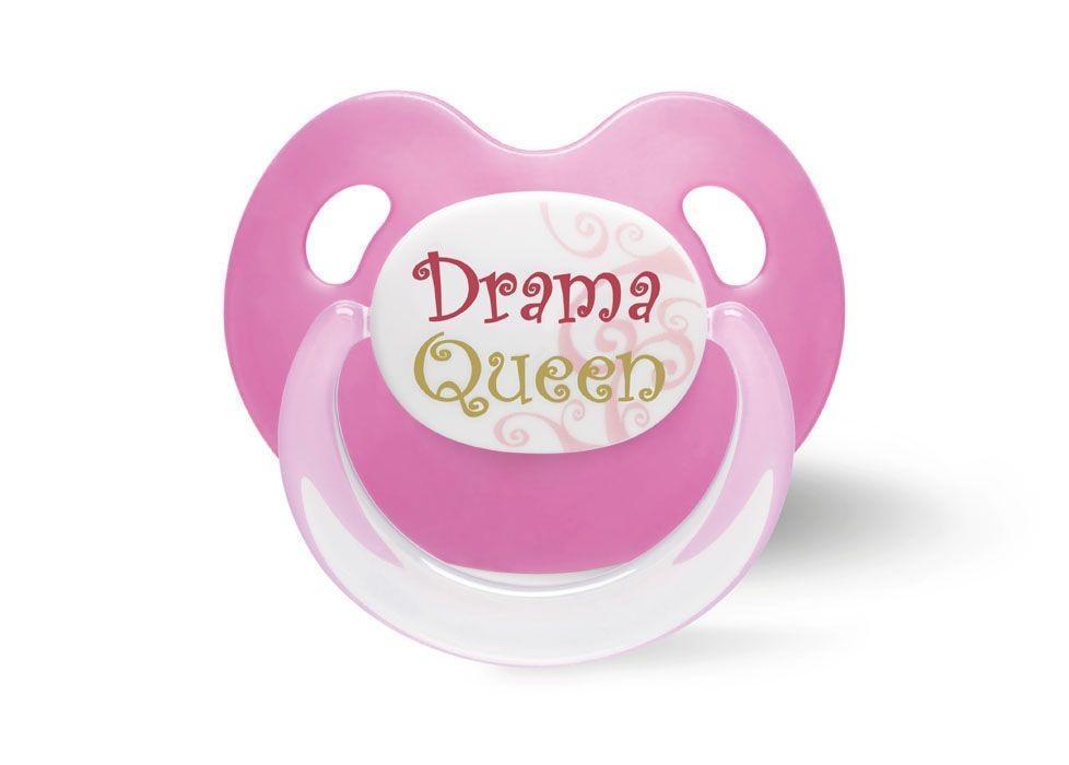 """Пустышка силиконовая Bibi """"Drama Queen"""", от 16 месяцев, цвет: розовый"""