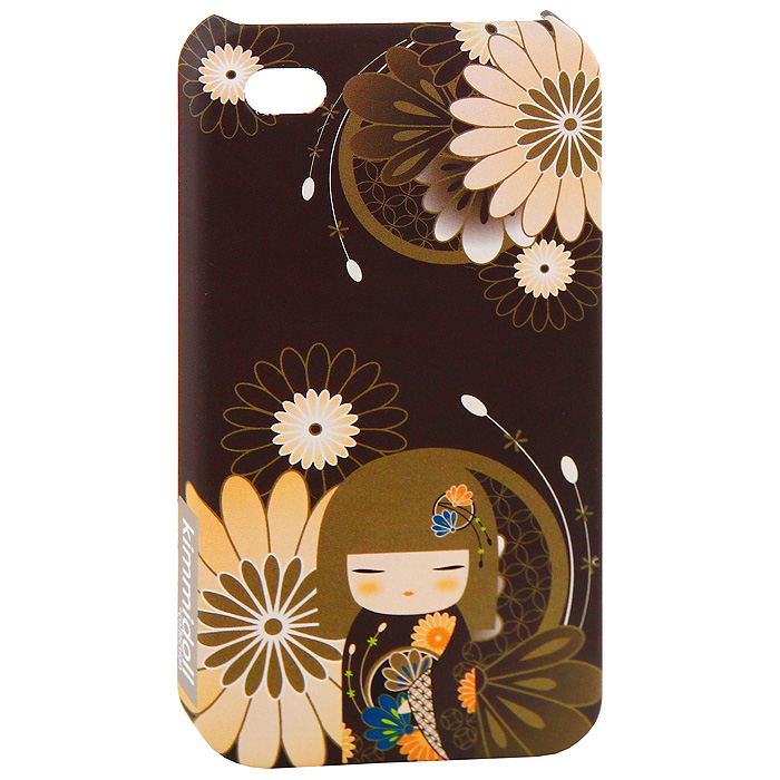 Чехол для iPhone 4/4s Kimmidoll Юа (Добро), цвет: коричневый. KF0503 protective crystal pearl w crystalplastic back case for iphone 4 4s silver white