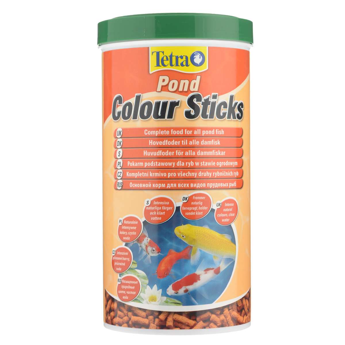 Корм сухой Tetra Pond Color Sticks для всех видов прудовых рыб, в виде гранул, 1 л корм tetra pond sticks complete food for all pond fish палочки для прудовых рыб 50л