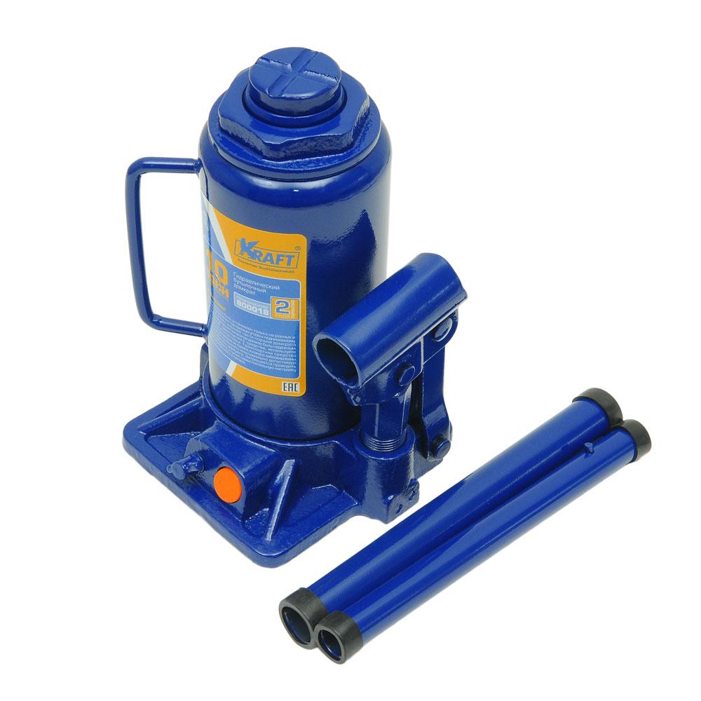 Домкрат бутылочный Kraft КТ 800018, 10 т ключ комбинированный kraft 14 мм кт 700508