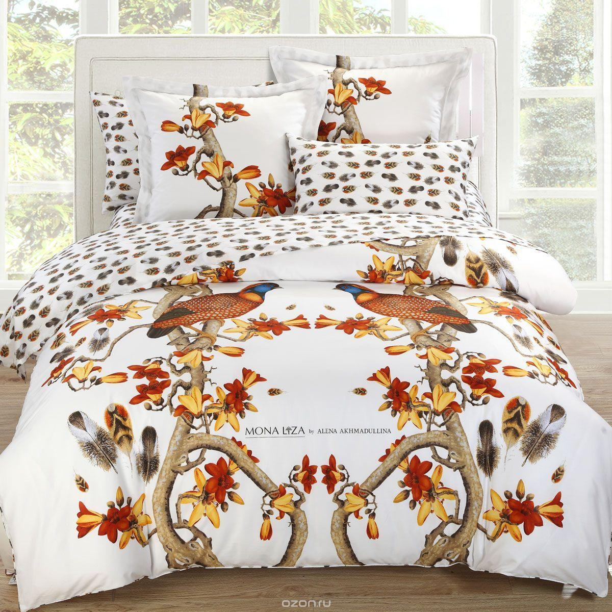 Комплект белья Pheasant (2-спальный КПБ, сатин панно, наволочки 50х70, 70х70)