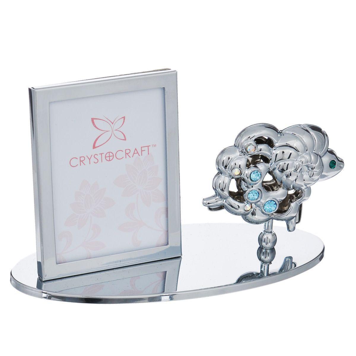 Фоторамка Crystocraft Овечка, цвет: серебристый, 4,5 х 5,5 см статуэтка crystocraft миниатюра u0314 001 cbl