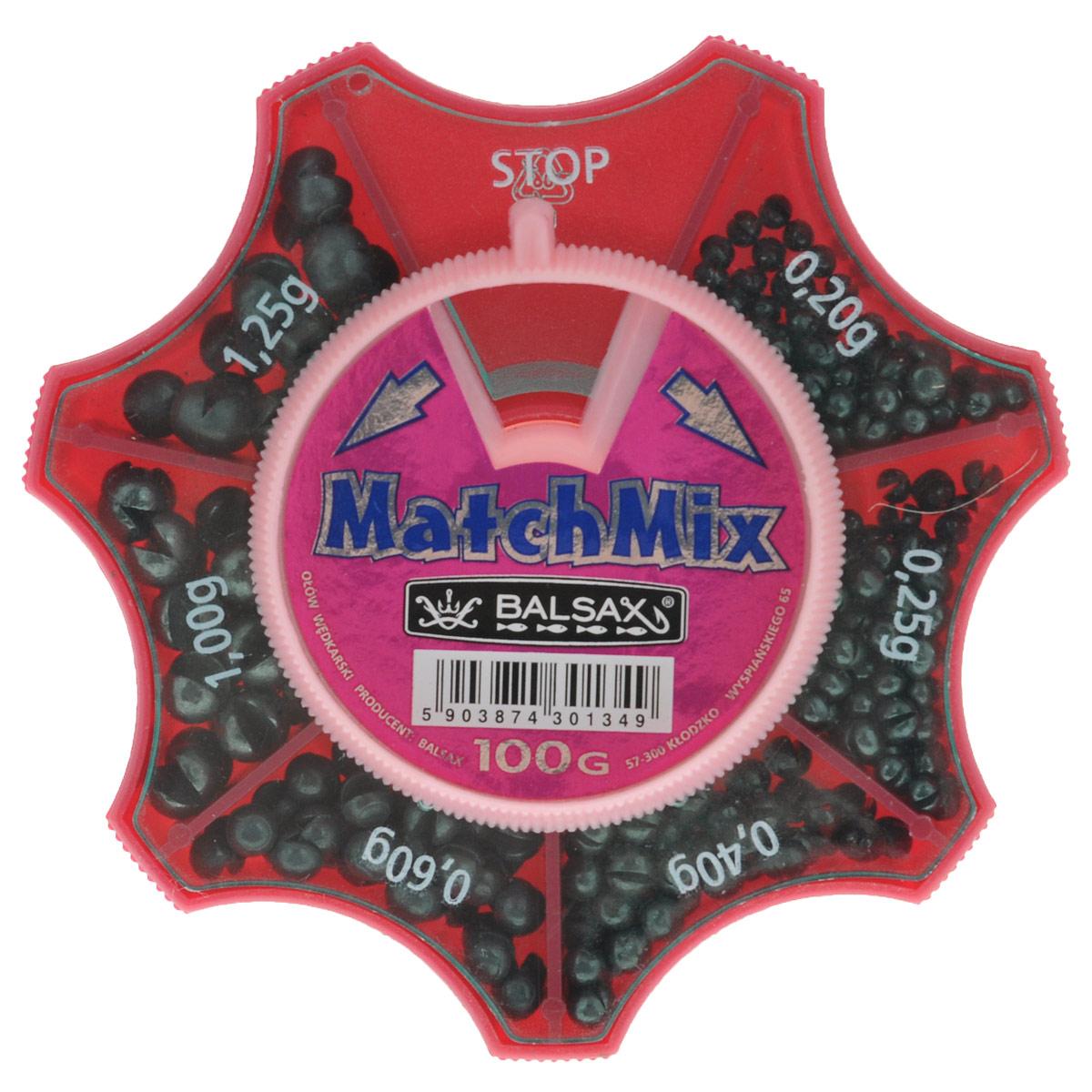 Набор грузов Balsax MatchMix, цвет: серый, 100 г13-7-371Грузы Balsax MatchMix, изготовленные из свинца, прочно держатся на леске. Грузило - одно из рыболовных приспособлений, которое гарантирует правильный заброс удочки и надежное закрепление крючка в пасти рыбы. Они легко закрепляются даже на самой тонкой снасти, при этом их можно перемещать вверх и вниз, не опасаясь, что они повредит леску. В набор входит шесть видов грузов весом: 0,20 г, 0,25 г, 0,40 г, 0,60 г, 1 г, 1,25 г. Набор грузов Balsax MatchMix станет незаменимым атрибутом рыбалки. Вес грузов: 0,20-1,25 г. Общий вес: 100 г. Материал: свинец.