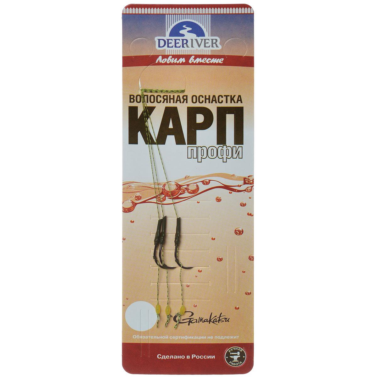 Поводок Deepriver Карп Профи Бойл, крючок №4, тест 7 кг, 3 шт