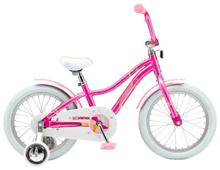 Велосипед детский Schwinn Lil Stardust (2015) Pink43245Schwinn Lil Stardust 2015 года – это детский велосипед начального уровня для девочек, рассчитанный на возраст от 4 до 6 лет. Яркая, красивая и оригинальная модель доступна в двух цветах. Обладая такими визуальными достоинствами, велосипед остается комфортным и безопасным в использовании. Ребенку будет очень удобно и просто на нем кататься, ведь он оборудован ножным тормозом и не имеет переключения передач. Бренд Schwinn – это качество! Lil Stardust обязательно понравится вам и вашему ребенку!Вилка: SchwinnСедло: Schwinn Sidewalk KidsЦепь: KMC Z410Спицы: Stainless 14gЗадняя втулка: SchwinnЗадняя покрышка: SchwinnПередняя покрышка: SchwinnРазмер рамы: 16.0Какой велосипед выбрать? Статья OZON Гид