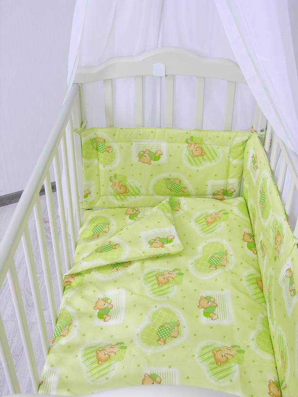 Комплект в кроватку ФЕЯ Мишки 6 предметов, зеленый gas gb2104 gas