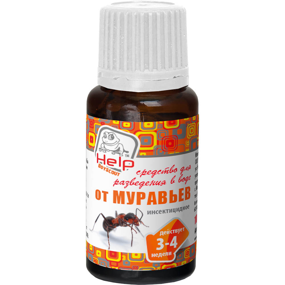 Средство от муравьев HELP Муратокс для разведения в воде, 10 мл средство цветолюкс для борьбы с вредителями 700 мл