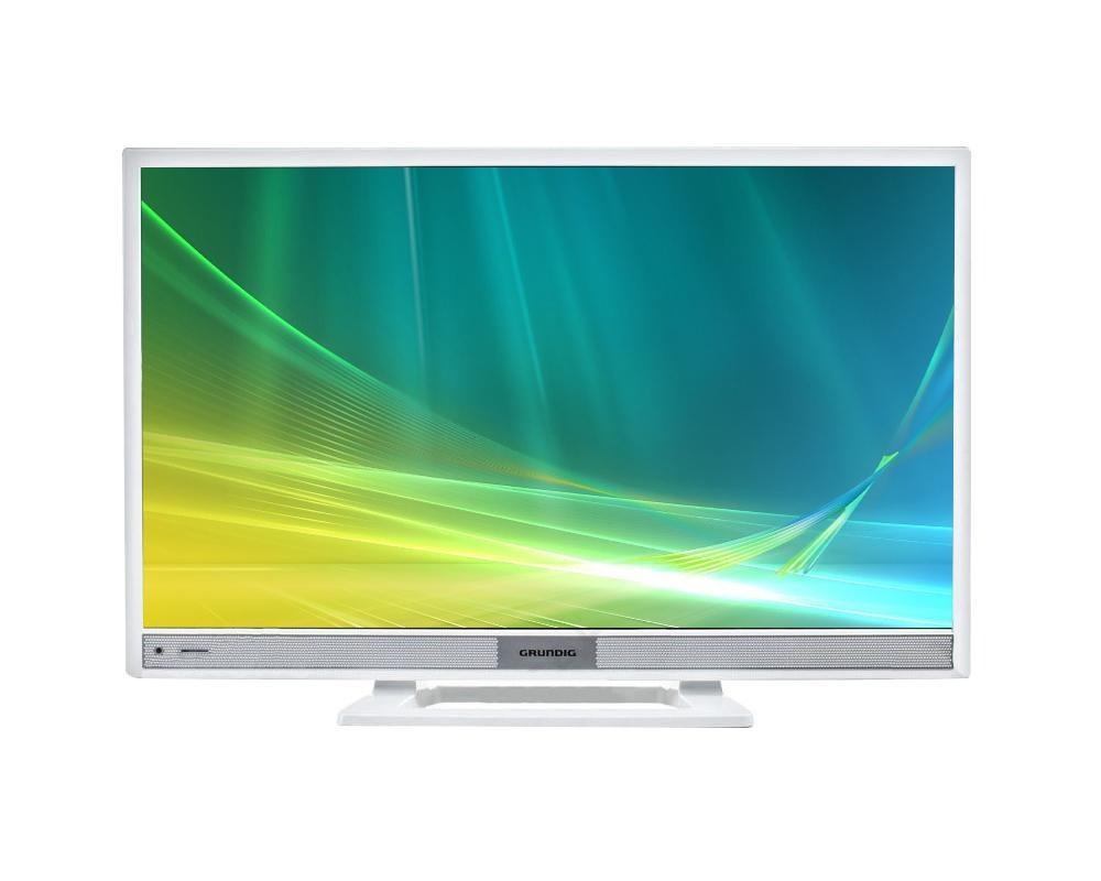 Grundig 28VLE4500WMMRQ000Grundig 28VLE4500WM - это прекрасный современный телевизор с полным набором всех необходимых функций. HD разрешение и LED подсветка обеспечивают непревзойденное качество изображения с насыщенными и яркими цветами, делая просмотр телепередач истинным удовольствием. Тонкая рамка повышает удобство просмотра, а строгий дизайн способен дополнить любой интерьер. Телевизор имеет все необходимое для комфортного и универсального использования: множество портов, функцию умного телевизора, возможность подключения к сети интернет.Полное погружениеПредставленная модель не оставит вас равнодушным к качеству ее изображения: HD разрешение позволяет добиться максимальной четкости и различить даже самые мелкие детали, а равномерная LED подсветка дает яркие, насыщенные цвета и картинку, максимально приближенную к реальной.Окунитесь в атмосферу происходящего на экранеПолучить максимум удовольствия от просмотра позволяет качественная акустическая система. Два динамика суммарной мощностью 12 Вт, и технология Dolby Digital, выдают мощный и четкий, как для 28-дюймового телевизора, звук. Если же планируется использование данного устройства в качестве монитора, то есть возможность подключить любимые наушники и получить массу удовольствия от объемного звука.Больше возможностей, больше удовольствияШирокие возможности подключенийУ вас есть USB флешка с фильмом? Приступайте к просмотру! Для этого достаточно просто подключить ее или другое внешнее устройство этого стандарта, и через пару минут вы уже будете наслаждаться любимым блокбастером. Представленная модель поддерживает все современные видеоформаты, поэтому о несовместимости не может быть и речи.Прекрасный мультимедийный центр для небольшой комнатыВвиду своей небольшой диагонали, устанавливать этот телевизор в большой комнате нет смысла, но зато он отлично подойдет, например, для кухни. Для этого имеется возможность крепления на стену при помощи специального кронштейна. Также радует наличие встроенного цифрового ТВ-