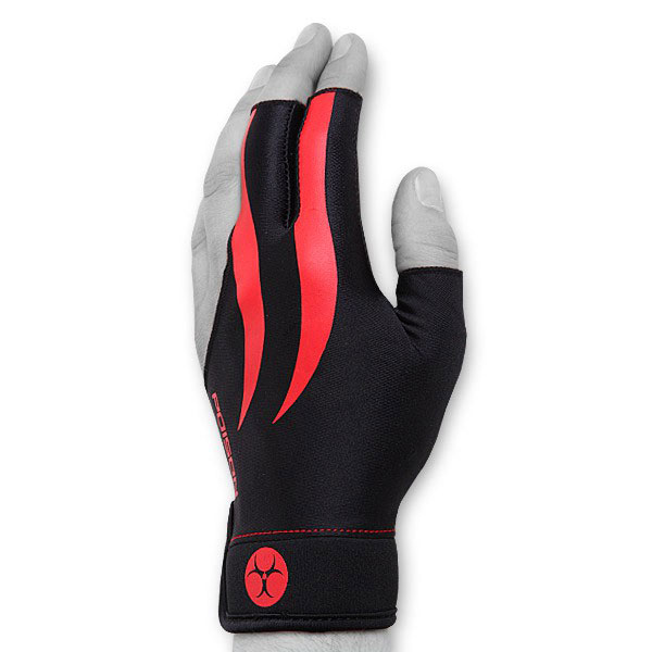 Перчатка для бильярда Poison, цвет: черный. Размер L/XL05109Бильярдная перчатка Poison гарантирует хорошее скольжение кия по руке. При этом вам не придется использовать тальк для рук. Выполнена из эластичного материала.Надевается на левую руку.