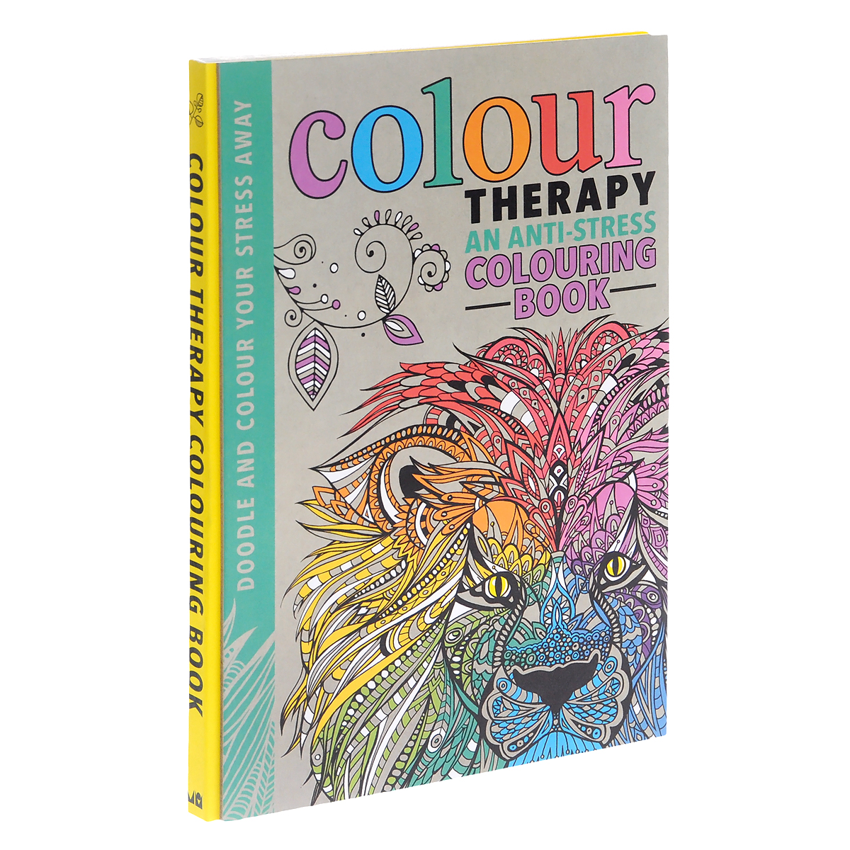Colour Therapy: An Anti-Stress Colouring Book pocket doodling and colouring book blue book