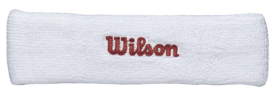 """Повязка на голову Wilson """"Headband"""" выполнена из футера и украшена вышивкой Wilson. Полностью поглощает влагу, обеспечивая максимальный комфорт во время игры или тренировок."""