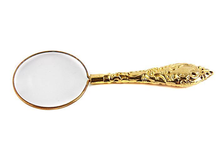 Миниатюрная лупа в классическом стиле. Металл, стекло. Конец XX века винтажная брошь лягушонок ювелирный сплав жемчуг стразы конец xx века