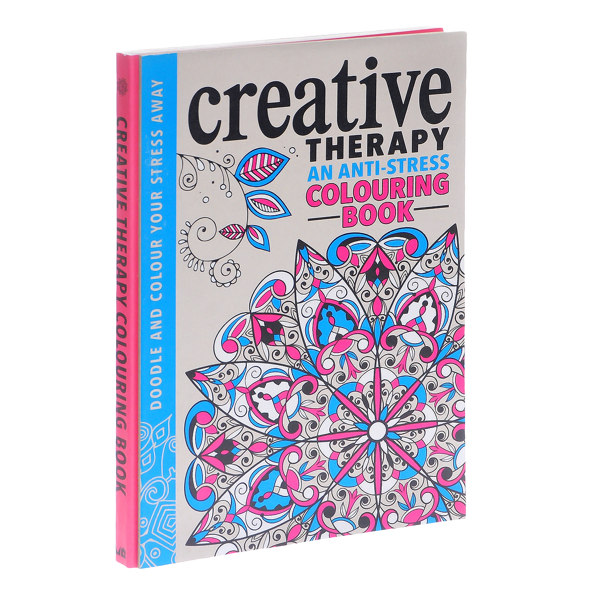 The Creative Therapy Colouring Book pocket doodling and colouring book blue book