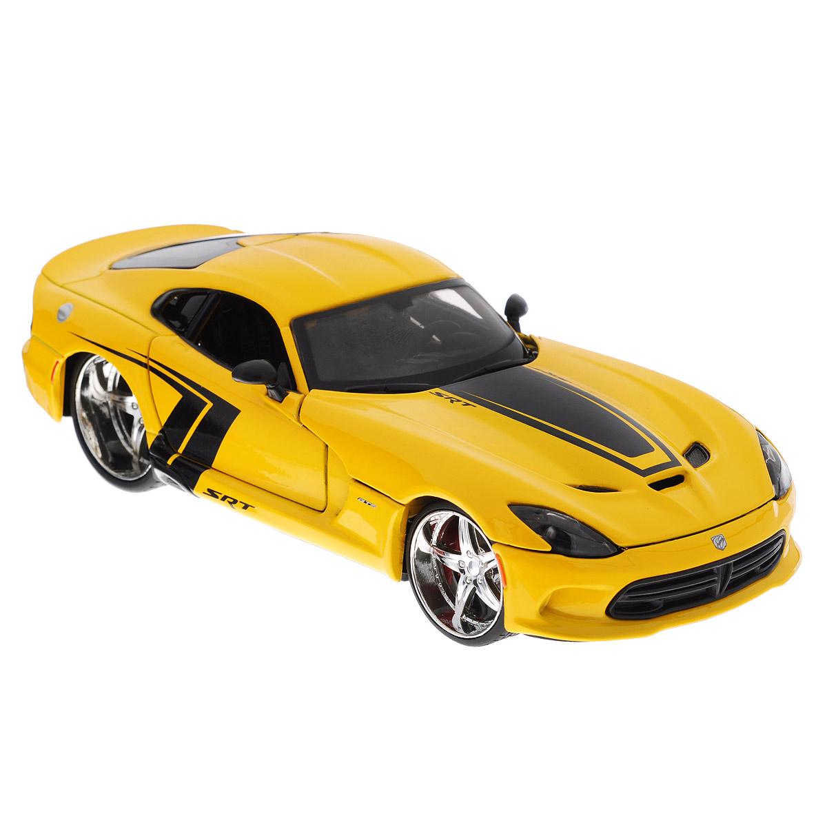 Коллекционная модель Maisto Dodge SRT Viper GTS 2013, цвет: желтый. Масштаб 1/24 модель автомобиля 1 24 motormax dodge viper srt10 racing 2003