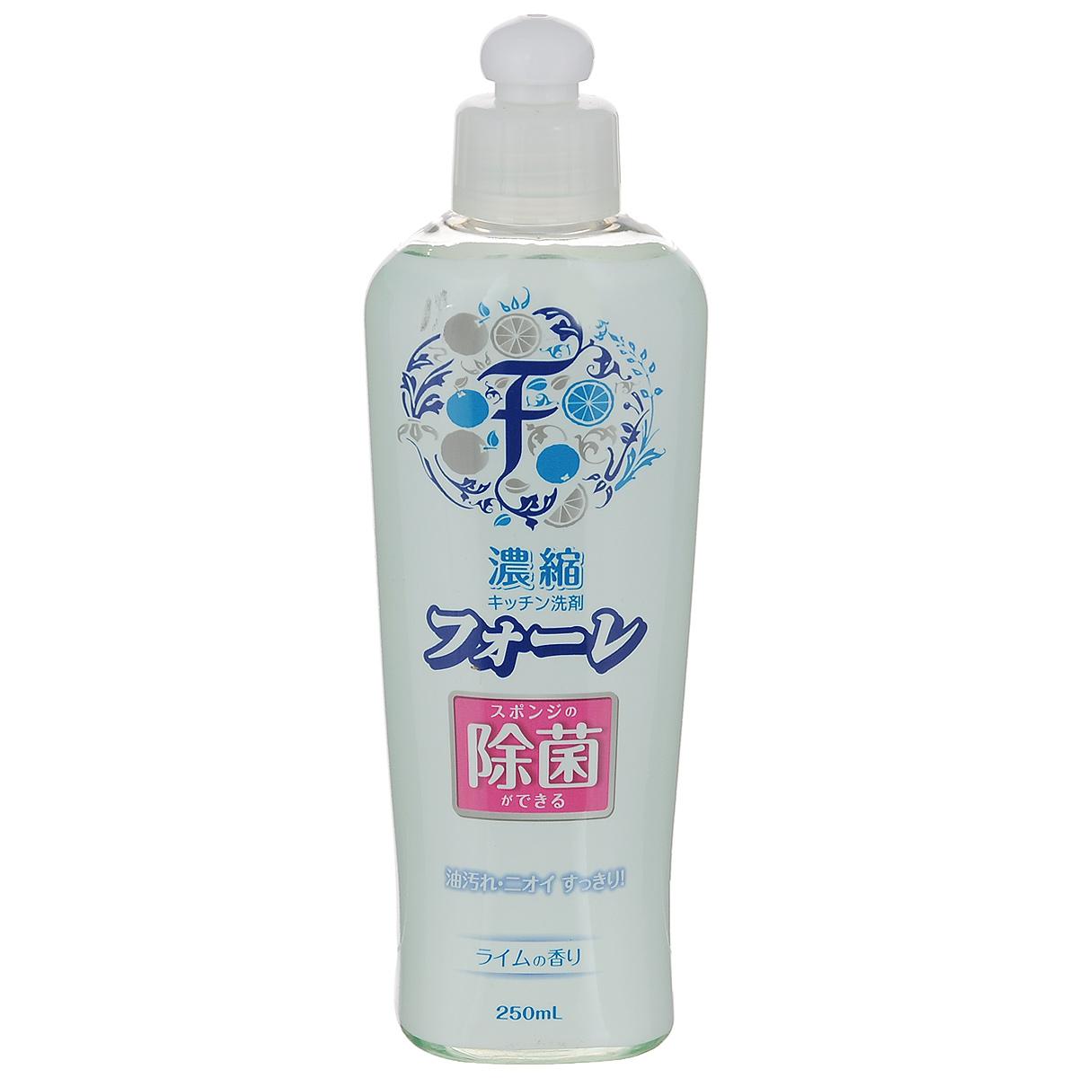 Средство для мытья посуды Kaneyo Faure, антибактериальное, лайм, 250 мл71514, 201026Средство Kaneyo Faure предназначено для мытья посуды, кухонной утвари и дезинфекции губок для мытья посуды. Имеет приятный аромат лайма.Эффективно очищает, обезжиривает и стерилизует посуду, удаляет масляные и прочие пищевые загрязнения. Обильная пена тщательно устраняет жир даже в холодной воде. Средство очень экономично, одной капли хватает на долго. Подходит для мытья овощей и фруктов. Мягко воздействует на кожу рук, не раздражая ее. Состав: ПАВ (30% натрий алкилбензолсульфонат), жирные кислоты алканоламид, полиоксиалкиленовые алкилэфира, стабилизатор.Товар сертифицирован. Размер бутылки: 19 см х 7 см х 4,5 см.