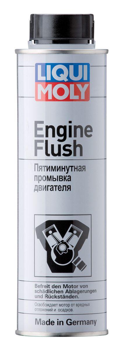 Пятиминутная промывка двигателя Liqui Moly Engine Flush, 300 мл1920Пятиминутная промывка двигателя Liqui Moly применяется для профилактической промывки двигателя при обычном режиме езды без пробок и повышенных нагрузок при стандартном интервале замены масла. Удаляет всевозможные отложения, нагар и кокс во всех бензиновых и дизельных двигателях. Благодаря очищающим свойствам значительно увеличивается ресурс двигателя и повышается его мощность. За счет удаления отложений улучшается смазывание двигателя, снижается трение и количество вредных выбросов. Не применять в мотоциклах с муфтой сцепления, работающей в масле. Метод применения: содержимое залить в горячее масло до его замены, дать поработать двигателю 5-10 минут на холостых оборотах и заглушить, слить масло, заменить фильтр и залить свежее масло. Состав: длинноцепочный алкилированный кальцийарилсульфонат, углеводороды, н-алканы, изоалканы, циклоалканы, ароматизаторы (2-25%), более 30% алифатических углеводородов, 15-30% ароматических углеводородов, менее 5% неионных ПАВ. Товар сертифицирован.