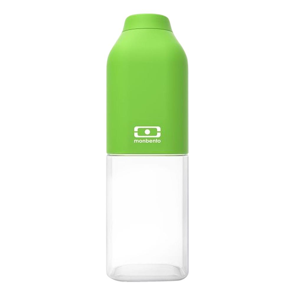 Бутылка для воды Monbento Positive, цвет: зеленый, 500 мл1011 01 005Бутылка для воды Monbento Positive изготовлена из безопасного пищевого пластика (BPA free). Одна половина бутылки - прозрачная, вторая оснащена цветным покрытием Soft touch, благодаря чему ее приятно держать в руке. Изделие оснащено герметичной закручивающейся крышкой. Такая идеальная бутылка небольшого размера, но отличной вместимости наполняет оптимизмом, даря заряд позитива и хорошего настроения.Многоразовая бутылка пригодится в спортзале, на прогулке, дома, на даче - в общем, везде! Забудьте про одноразовые пластиковые емкости - они некрасивые, да и засоряют окружающую среду. А такая красота в руках точно привлечет взгляды окружающих.Нельзя мыть в посудомоечной машине.Высота бутылки (с учетом крышки): 19 см.Размер дна: 6 см х 6 см.