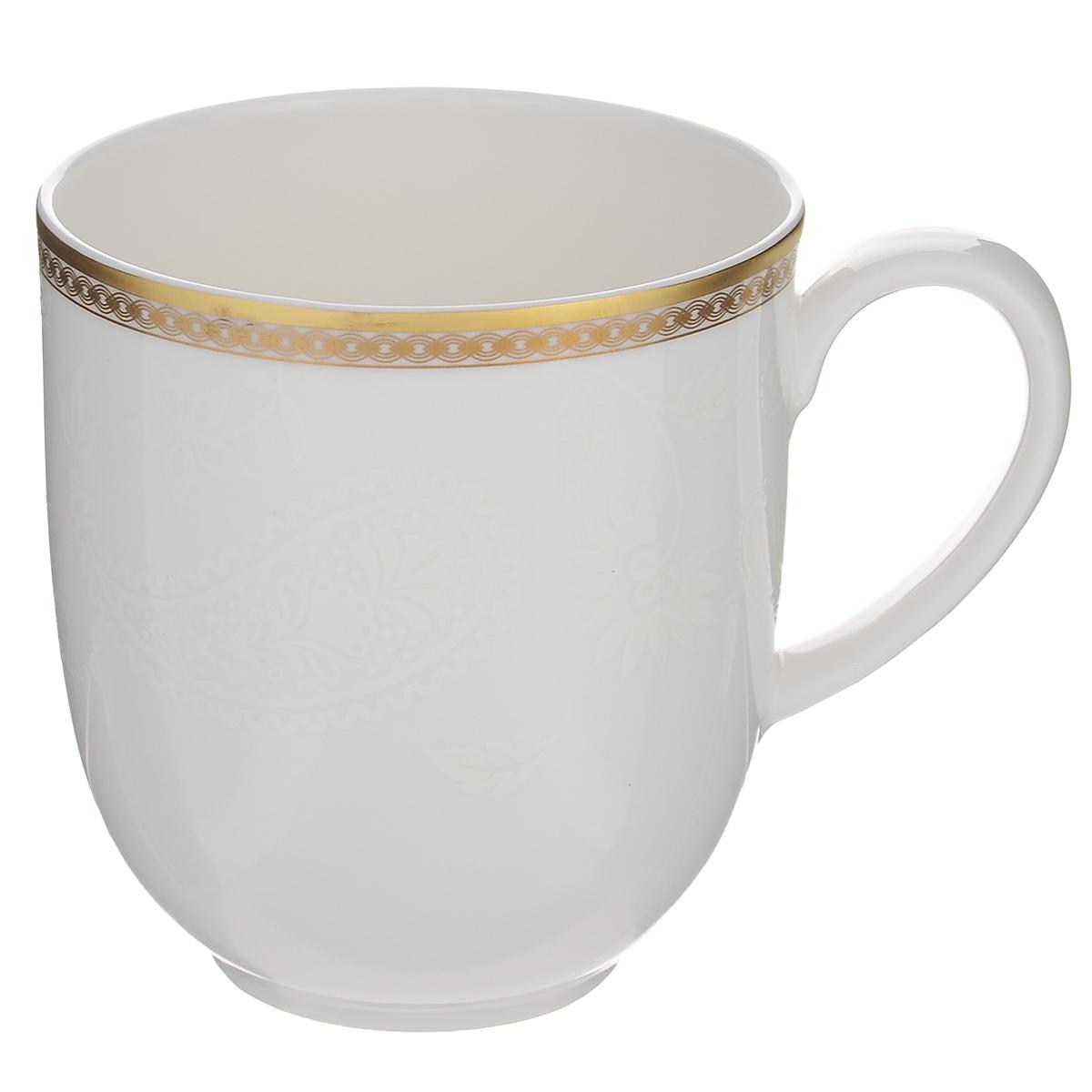 """Кружка Royal Porcelain """"Золотая вышивка"""", цвет: белый, 280 мл"""