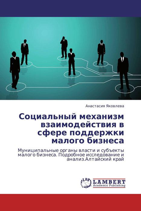 Социальный механизм взаимодействия в сфере поддержки малого бизнеса gr для малого и среднего бизнеса версия 2 0