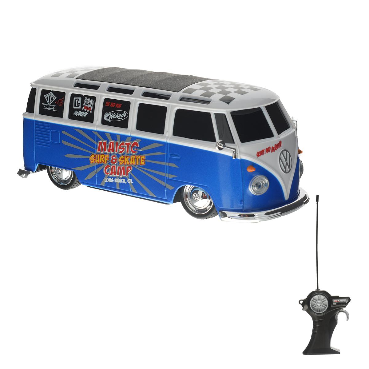 Maisto Радиоуправляемая модель Volkswagen Van Samba цвет синий белый черный samba surpises